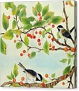 Birds In Autumn Season II Canvas Print
