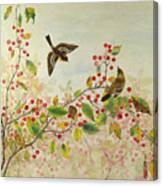Birds In Autumn Canvas Print