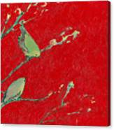 Birds In Red Canvas Print