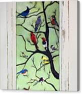 Birds In The Tree Framed Canvas Print