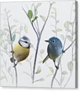 Birds In Tree Canvas Print