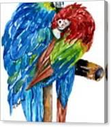 Birds Of Color Canvas Print