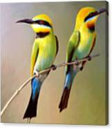 Birds On A Branch Canvas Print