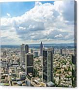 Birdview Of Frankfurt Am Main Canvas Print