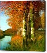 Birken Am Moorgraben 1896 Canvas Print