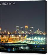 Birmingham Airport ,skyline Canvas Print