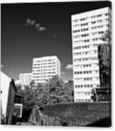 Birmingham Civic Gardens Council Tower Block Estate Uk Canvas Print