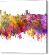 Birmingham Skyline In Watercolor On White Background Canvas Print