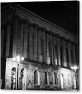Birmingham Town Hall In The City Centre At Night England Uk Canvas Print