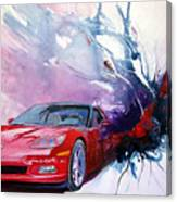 Birth Of A Corvette Canvas Print