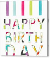 Birthday Candles- Art By Linda Woods Canvas Print