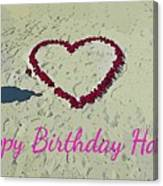 Birthday Card For Lover Canvas Print