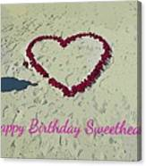 Birthday Card For Sweethearts Canvas Print