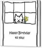 Birthday Greeting Card Canvas Print