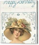 Birthday Lady Canvas Print