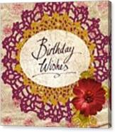 Birthday Wishes Canvas Print