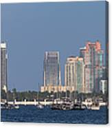 Biscayne Bay At Miami Yatch Club Canvas Print