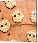 Biscuit Gathering Of Monster Mummies Canvas Print
