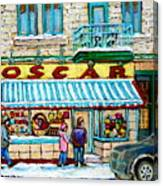 Biscuiterie Oscar Rue Ontario Canvas Print