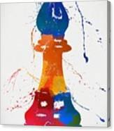 Bishop Chess Piece Paint Splatter Canvas Print