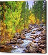 Bishop Creek In Autumn Canvas Print