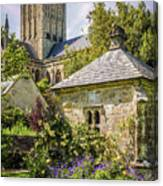 Bishops Palace Gardens - Wells England Canvas Print