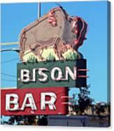 Miles City Montana - Bison Bar Canvas Print