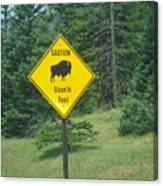 Bison Sign Canvas Print