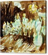 Bistre Sunflowers Canvas Print