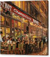 Bistrot Champollion Canvas Print