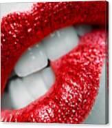 Bit Lip Canvas Print
