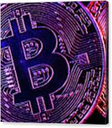Bitcoin Coins In A Mysterious Lighting Canvas Print