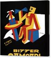 Bitter Campari - Aperitivo - Vintage Beer Advertising Poster Canvas Print