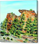 Bitterroot Cliffs Canvas Print