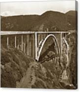 Bixby Creek Aka Rainbow Bridge Bridge Big Sur Photo  1937 Canvas Print