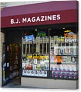 B.j. Magazines New York Canvas Print