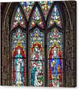 Black Abbey Window - Kilkenny - Ireland Canvas Print