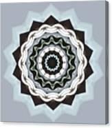 Black And Blue Mandala Canvas Print