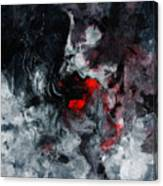 Black And Red Abstract Painting  Canvas Print
