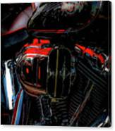 Black And Red Harley 5966 H_2 Canvas Print