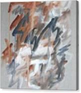 Black and Tan No 1 Canvas Print
