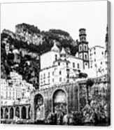 Black And White Amalfi Canvas Print