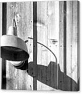 Black And White Barn Fixture 2 Canvas Print
