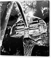 Black And White Basketball Art Canvas Print