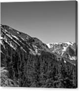 Black And White Beartooth Canvas Print