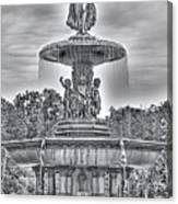 Bedesta Statue Black And White  Canvas Print