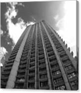 Black And White Brutalist Barbican Canvas Print