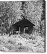 Black And White Cabin Canvas Print