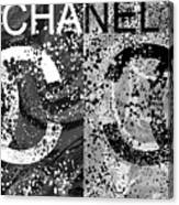 Black And White Chanel Art Canvas Print