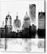 Black And White Detroit Canvas Print